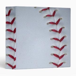 Red Baseball Stitches Binder