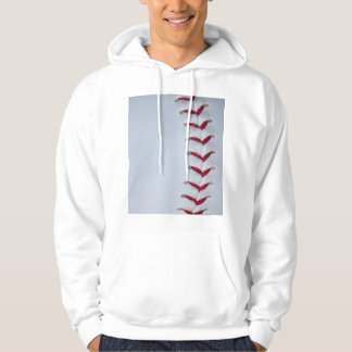 Red Baseball Stitches Pullover