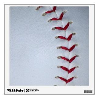 Red Baseball Stitches Wall Sticker