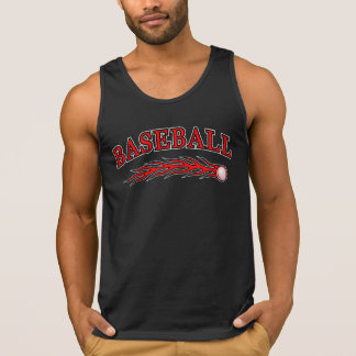 Red Baseball with Flaming Ball 1 Tank Top