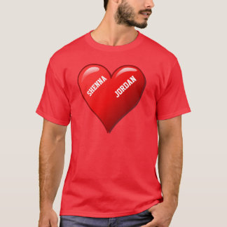Red Basic T-Shirt Completely in Love
