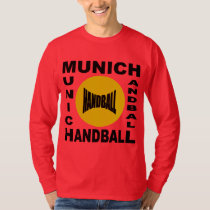 Red basic tee-shirt deep MUNICH HANDBALL T-Shirt