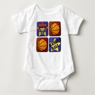 Red Basketball Baby Bodysuit
