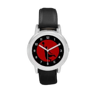 Red Basketball Circle Logo Wrist Watches