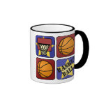 Red Basketball Coffee Mug