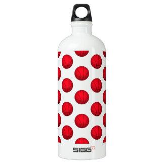 Red Basketball Pattern Aluminum Water Bottle
