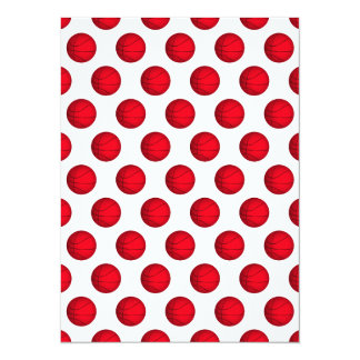 Red Basketball Pattern Card