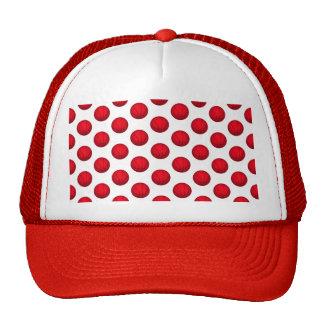 Red Basketball Pattern Trucker Hat