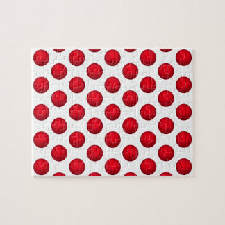 Red Basketball Pattern Jigsaw Puzzle
