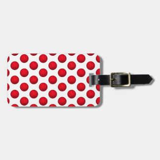 Red Basketball Pattern Luggage Tag