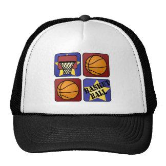 Red Basketball Trucker Hat