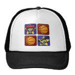 Red Basketball Trucker Hats
