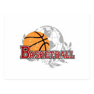 Red Basketball Tshirts and Gifts Postcard