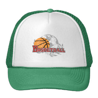 Red Basketball Tshirts and Gifts Trucker Hat
