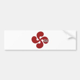 Red Basque crosses 64 Lauburu Bumper Sticker