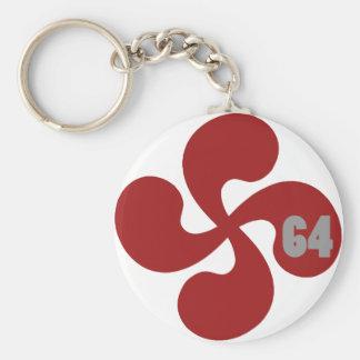 Red Basque crosses 64 Lauburu Keychain