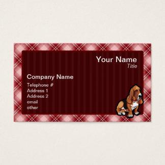 Red Basset Hound Business Card