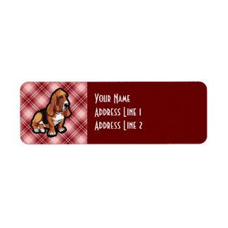 Red Basset Hound Custom Return Address Labels