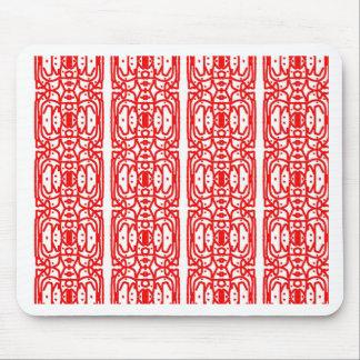 Red Batik Design Mousepad