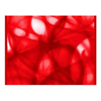 red_batik_pattern postcard