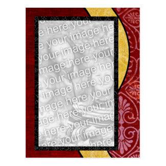 Red Batik Postcard