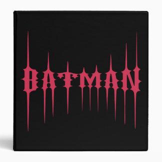 Red Batman Name 3 Ring Binders