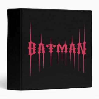 Red Batman Name Vinyl Binders