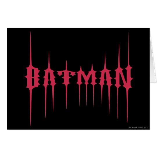 Red Batman Name Card