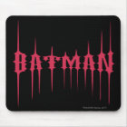 Red Batman Name Mouse Pad