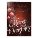 Red Bauble Christmas Cards