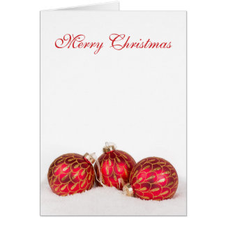 Red Bauble Christmass Card - Personalised