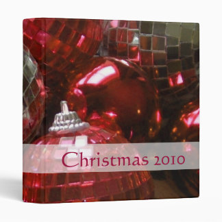Red Baubles 'Christmas 2010' binder front