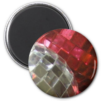 Red Baubles mirror ball fridge magnet