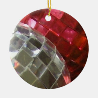 Red Baubles mirror ball ornament
