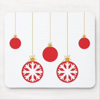 Red Baubles Mouse Pad