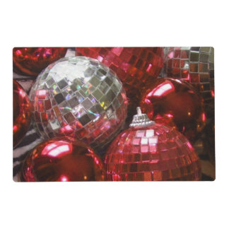 Red Baubles placemat
