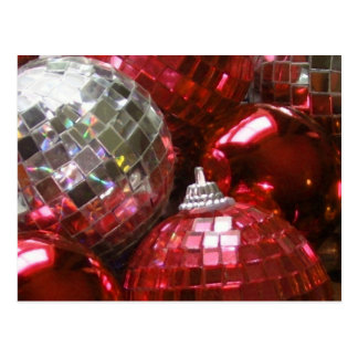 Red Baubles postcard