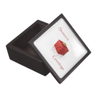 Red Baubles Season's Greetings Gift Box