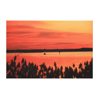 Red Bay Sunset Canvas Print