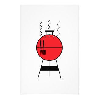 Red BBQ Grill Custom Stationery