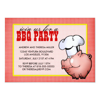 Red BBQ Party Invitation