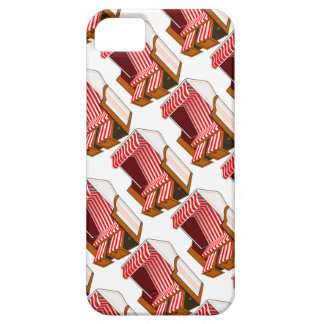 Red Beach Chair Themed iPhone 5/5S Case
