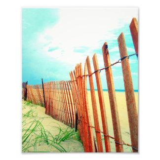 Red Beach Dune Fence Photo