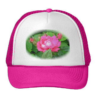 Red Beach Rose & Buds Hat