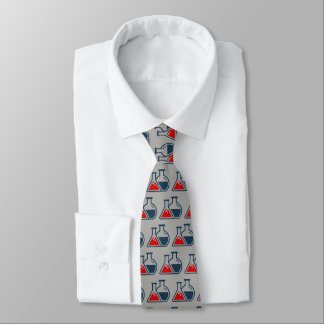 Red Beakers Chemistry Design Necktie