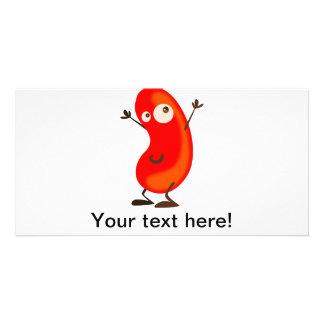 Red bean cartoon photo card