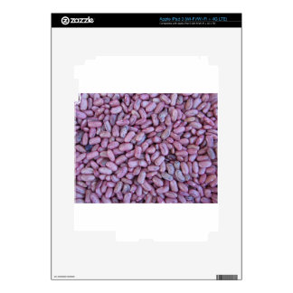 Red bean texture background iPad 3 decal