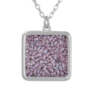Red bean texture background square pendant necklace