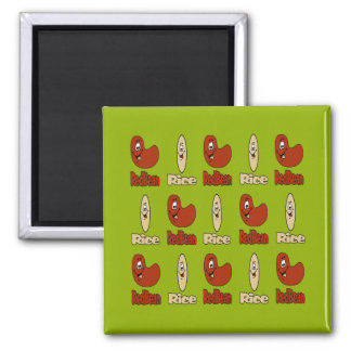 Red Beans and Rice 2 Inch Square Magnet