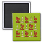 Red Beans and Rice Refrigerator Magnets